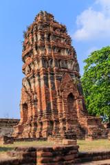 Ancient pagoda at Wat Phra that,Ayutthaya, Thailand.