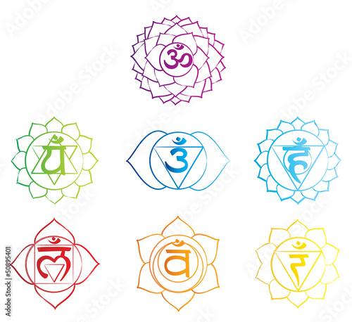 7 chakra symbols  Etsy