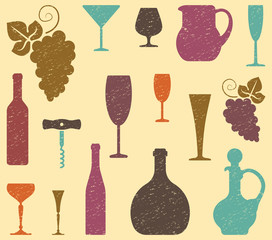 Seamless background on a wine theme