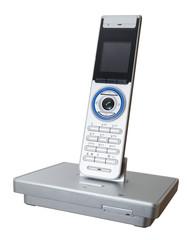 Modern landline phone isolated