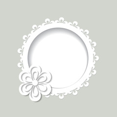 background with a flower and a frame
