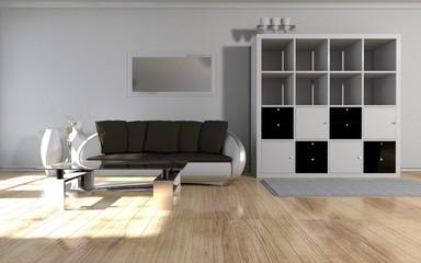 Wohnzimmer in weiss