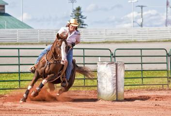 Door stickers Horseback riding Barrel Racer