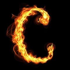 fire alphabet letter C