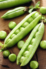 Fresh green peas
