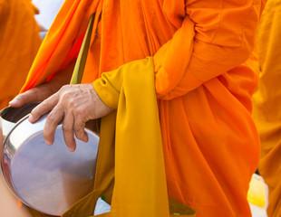 Monks receive aims