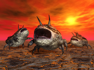 Alien Planet with Alien Creatures