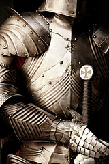 Printed kitchen splashbacks Knights Close up of armor