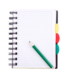 Office notebook. Back to school concept. Post it note.