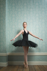 Portrait of a Beautiful Ballerina on her Toes