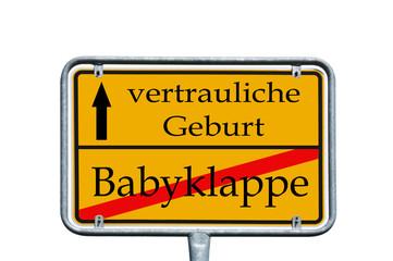 Schild - Babyklappe