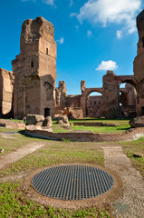Fotomurales - Caracalla springs ruins and grating at Rome