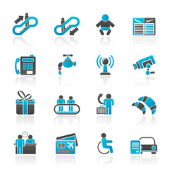 Airport, travel and transportation icons -  vector icon set 3