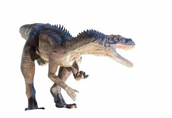 Fototapeta premium Przywrócenie dinozaura Herrerasaurus na białym tle