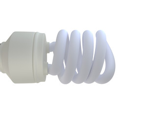 eco light bulb on white background