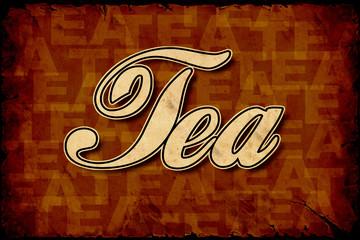 Fond de hotte en verre imprimé Affiche vintage Retroplakat - Tea
