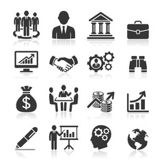 Business icons, management and human resources set1. vector eps