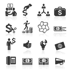 Business icons, management and human resources set7. vector eps