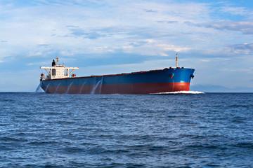 Tanker in the ocean