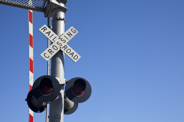 Railroad Crossing Sign  - Straight On