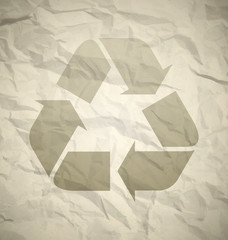 Recycled crumpled paper