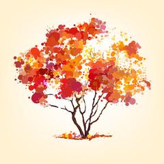 autumn vector tree of blots background