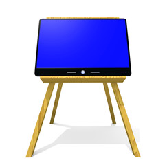 computer on the easel