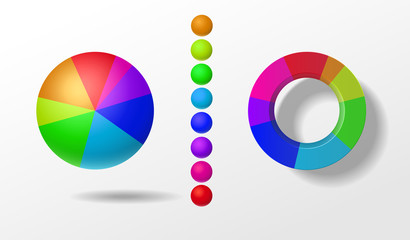 цветные круглые диаграммы