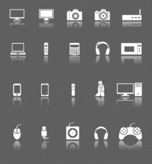 technology, computer multimedi and electronic devies icons