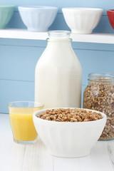 Delicious healthy cereal breakfast