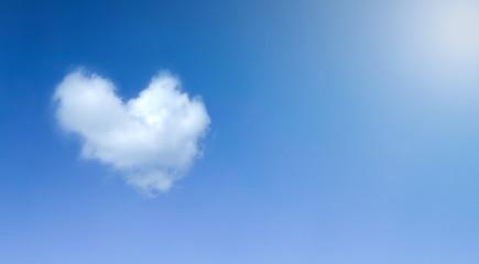 Heart cloud symbol