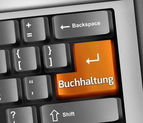 "Keyboard Illustration ""Buchhaltung"""