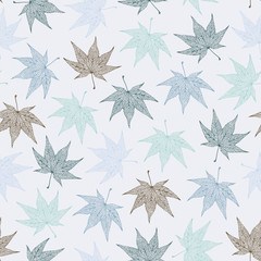 Maple leaves pattern