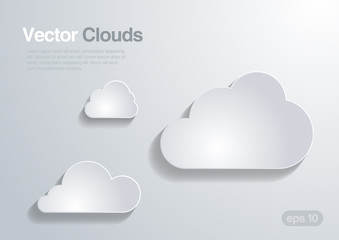 Fototapeta Clouds collection. Vector background. obraz