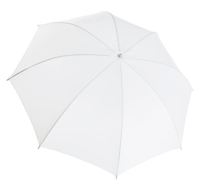 white photo umbrella isolated with clipping path included
