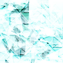 Abstract light turquoise techno background.