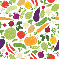 Estores personalizados con tu foto seamless pattern with illustrations of vegetables