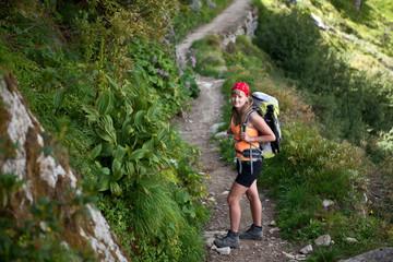 Switzerland mountain Hiker