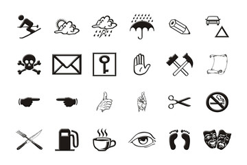 symbols isolated