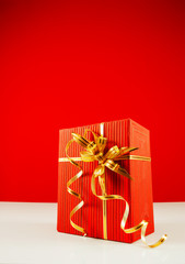 Wrapped red present box