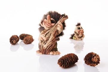 Fototapeta Norweski troll grający na kontrabasie