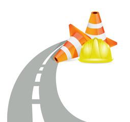 road barrier illustration design