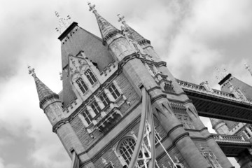 Tower Bridge London in Black and White