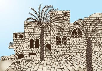 ancient stone houses древние каменные дома