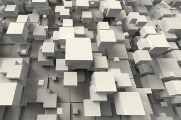 Abstract geometric cube shape