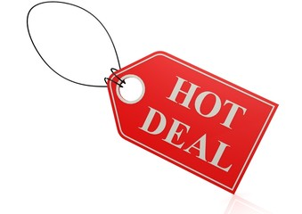 Hot deal label