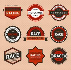 Racing badges, vintage style