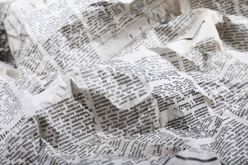 Fotobehang Kranten background of old crumpled newspaper