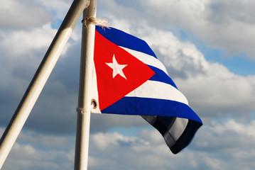 Cuban flag at sunset