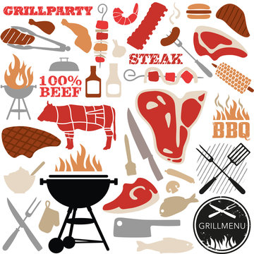 grill vector-set color